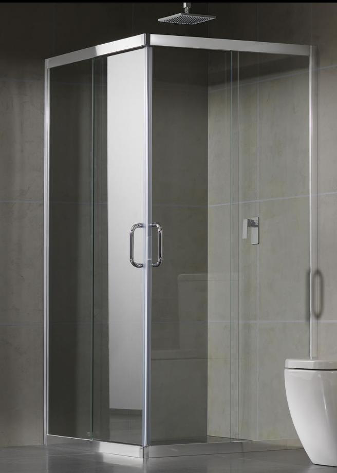 Frameless Corner Entry Apex Shower Screens Wardrobes